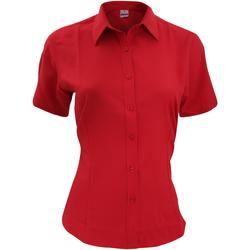Textil Homem Camisas mangas curtas Henbury HB596 Vermelho clássico