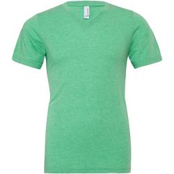 Textil Homem T-Shirt mangas curtas Bella + Canvas CA3415 Triblend Verde