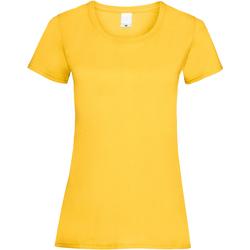 Textil Mulher T-Shirt mangas curtas Universal Textiles 61372 Ouro