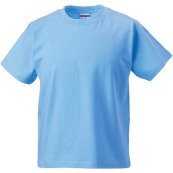Textil Criança T-Shirt mangas curtas Jerzees Schoolgear ZT180B Azul Céu
