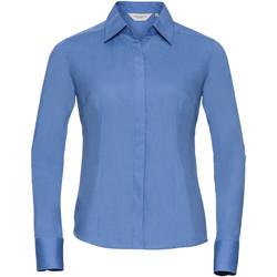 Textil Mulher camisas Russell 924F Azul Corporativo