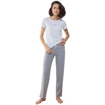 Textil Mulher Pijamas / Camisas de dormir Towel City TC053 Branco/Cinza de couro