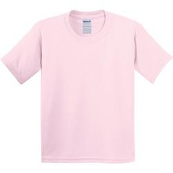 Textil Criança T-Shirt mangas curtas Gildan 5000B Rosa claro