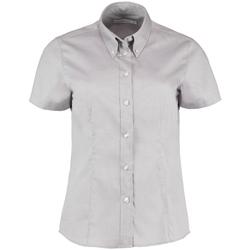 Textil Mulher camisas Kustom Kit KK701 Cinza Prata