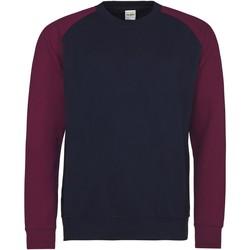 Textil Homem Sweats Awdis JH033 Marinha de Oxford/Burgundy