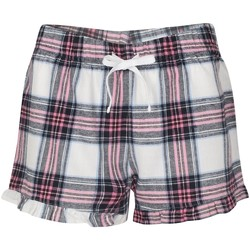 Textil Mulher Shorts / Bermudas Skinni Fit SK082 Cheque branco/rosa