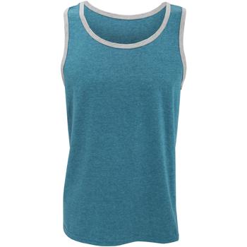 Textil Homem Tops sem mangas Anvil 986 Azul Caribe/ Heather Grey
