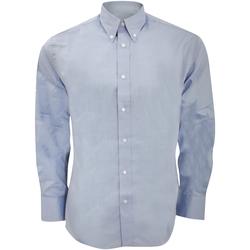 Textil Homem Camisas mangas comprida Kustom Kit KK188 Azul claro