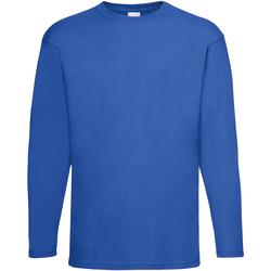 Textil Homem T-shirt mangas compridas Universal Textiles 61038 Cobalto