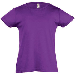 Textil Rapariga T-Shirt mangas curtas Sols Cherry Púrpura Escura