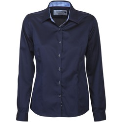 Textil Mulher camisas J Harvest & Frost JF006 Marinha / Sky Blue