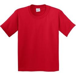 Textil Criança T-Shirt mangas curtas Gildan 5000B Vermelho