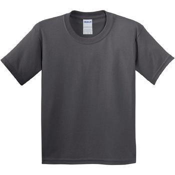 Textil Criança T-Shirt mangas curtas Gildan 64000B Carvão vegetal