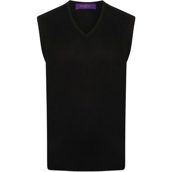 Textil Homem camisolas Henbury HB724 Marinha
