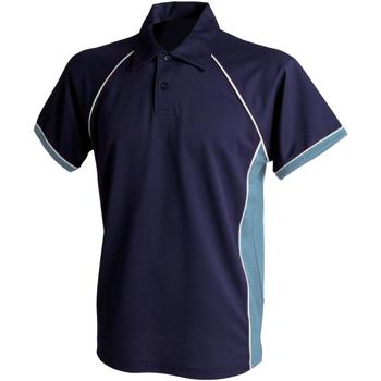 Textil Rapaz Polos mangas curta Finden & Hales LV372 Marinha/ Céu/ Branco