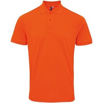 Textil Homem Polos mangas curta Premier PR630 Orange