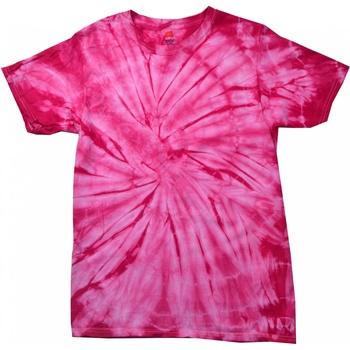 Textil Criança T-Shirt mangas curtas Colortone Spider Aranha Rosa