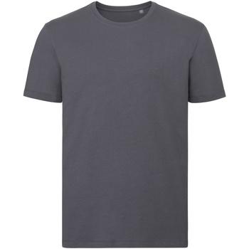 Textil Homem T-Shirt mangas curtas Russell R108M Cinza do comboio