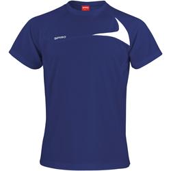 Textil Homem T-Shirt mangas curtas Spiro S182M Marinha/ Branco