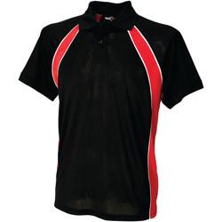 Textil Homem Polos mangas curta Finden & Hales LV350 Preto/Vermelho/branco