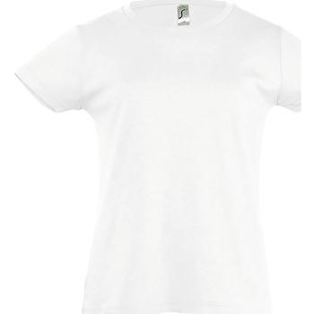 Textil Rapariga T-Shirt mangas curtas Sols Cherry Branco