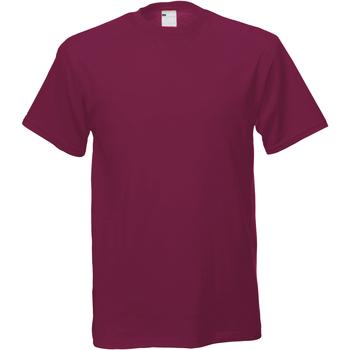 Textil Homem T-Shirt mangas curtas Universal Textiles 61082 Oxblood