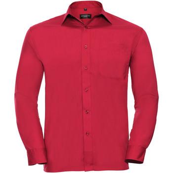 Textil Homem Camisas mangas comprida Russell 934M Vermelho clássico