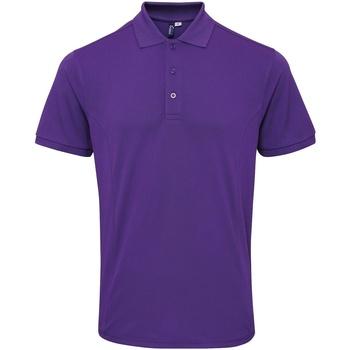 Textil Homem Polos mangas curta Premier PR630 Púrpura