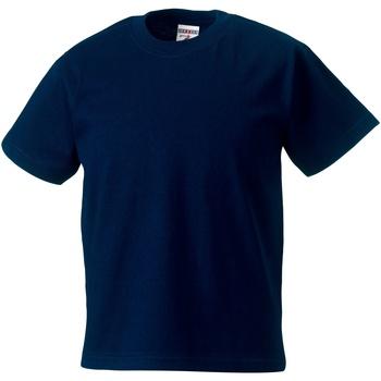 Textil Criança T-Shirt mangas curtas Jerzees Schoolgear ZT180B marinha francesa