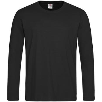 Textil Homem T-shirt mangas compridas Stedman  Opala Negra