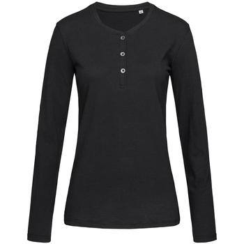 Textil Mulher T-shirt mangas compridas Stedman Stars  Opala Negra