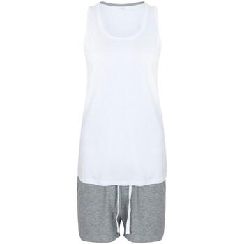 Textil Mulher Pijamas / Camisas de dormir Towel City TC052 Branco/Cinza de couro
