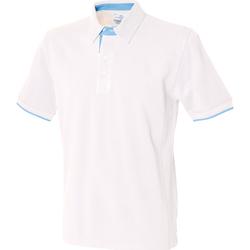 Textil Homem Polos mangas curta Front Row FR200 Branco/ Azul Céu