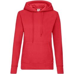 Textil Mulher Sweats Fruit Of The Loom 62038 Vermelho