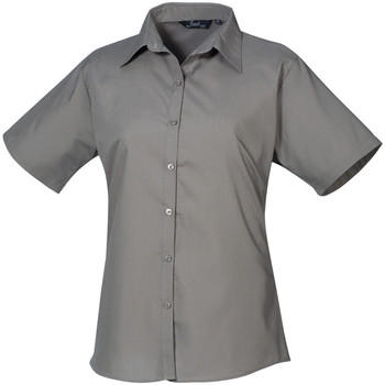 Textil Mulher camisas Premier PR302 Cinza Escuro