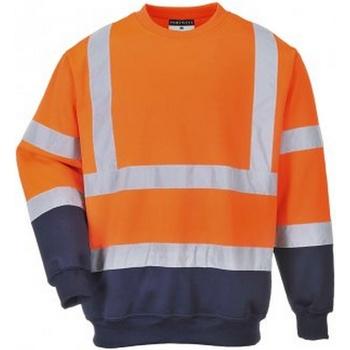 Textil Homem Sweats Portwest PW668 Laranja/Naviada