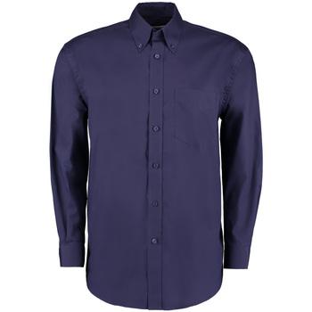 Textil Homem Camisas mangas comprida Kustom Kit KK105 Meia-noite na Marinha