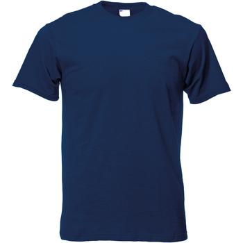 Textil Homem T-Shirt mangas curtas Universal Textiles 61082 Azul-marinho