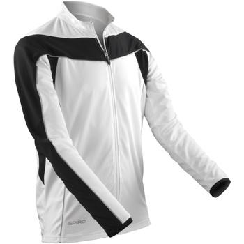 Textil Homem Casacos fato de treino Spiro S255M Branco / Preto