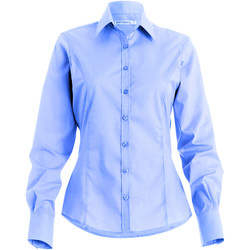 Textil Mulher camisas Kustom Kit Business Azul claro