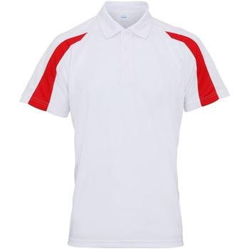 Textil Homem Polos mangas curta Awdis JC043 Branco Ártico/ Vermelho Fogo