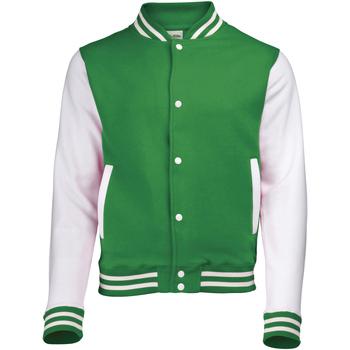 Textil Criança Jaquetas Awdis JH43J Kelly Green/White
