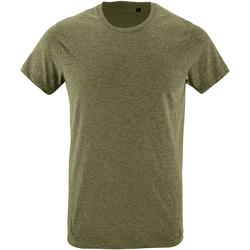 Textil Homem T-Shirt mangas curtas Sols 10553 Heather Khaki