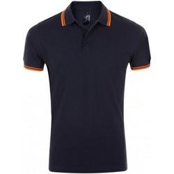 Textil Homem Polos mangas curta Sols Pasadena Marinha francesa/Neon Orange