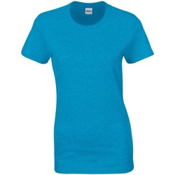 Textil Mulher T-Shirt mangas curtas Gildan Missy Fit Heather Sapphire