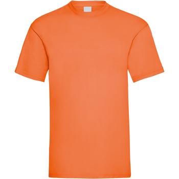 Textil Homem T-Shirt mangas curtas Universal Textiles 61036 Laranja Brilhante
