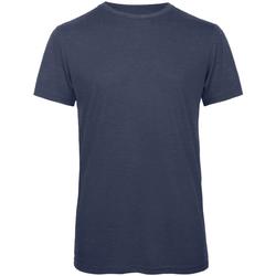 Textil Homem T-Shirt mangas curtas B And C TM055 Heather Navy