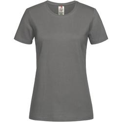 Textil Mulher T-Shirt mangas curtas Stedman  Real Grey