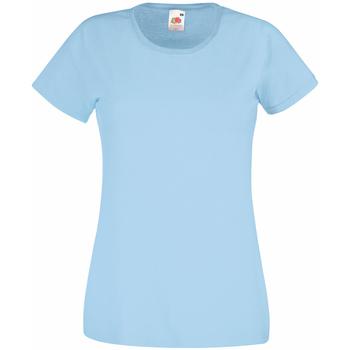 Textil Mulher T-Shirt mangas curtas Universal Textiles 61372 Azul claro