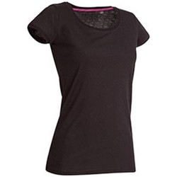 Textil Mulher T-Shirt mangas curtas Stedman Stars  Opala Negra